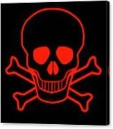 Red Skull And Crossbones Canvas Print