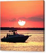 Red Sky At Long Beach Island Canvas Print