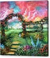 Red Sky Garden Canvas Print