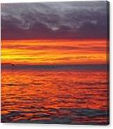 Red Sky In Morning, Sailor's Warning Canvas Print
