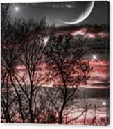 Red Sky Moon Canvas Print