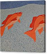 Red Snapper Inlay On Alabama Welcome Center Floor Canvas Print