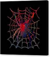 Red Spider On Black Canvas Print