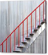 Red Staircase Canvas Print