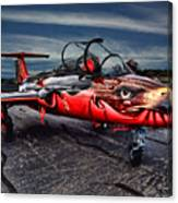 Red Star Viper Russian Side Canvas Print