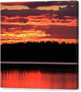 Red Summer Eve Canvas Print