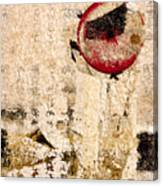 Red Sun Collage Canvas Print