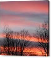 Red Sun Set Canvas Print