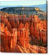 Red Sunrise Glow On The Hoodoos Of Bryce Canyon Canvas Print