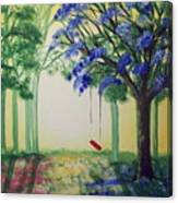 Red Swing Fantasy Canvas Print
