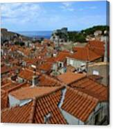 Red Tiled Roofs Of Dubrovnik Canvas Print