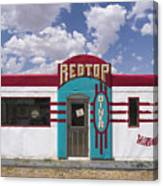 Red Top Diner On Route 66 Canvas Print