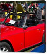 Red Tr6 Canvas Print