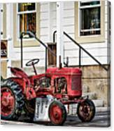 Red Tracktor Canvas Print