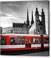 Red Train Canvas Print