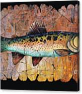 Red Trout Fresco Canvas Print