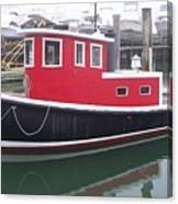 Red Tug Canvas Print