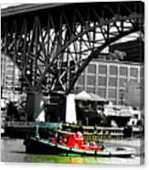 Red Tug On Cuyahoga River Canvas Print