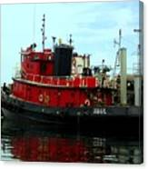 Red Tugboat Canvas Print