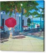 Red Umbrella In San Juan Canvas Print