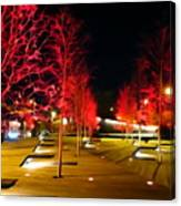 Red Urban Trees Canvas Print