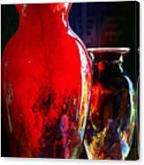 Red Vase Canvas Print