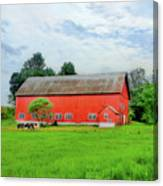 Red Vermont Barn Canvas Print