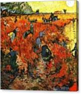 Red Vineyard Canvas Print