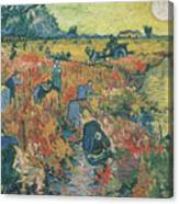 Red Vineyards At Arles Canvas Print