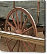 Red Wagon Wheel Canvas Print
