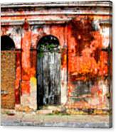 Red Wall By Darian Day Canvas Print