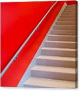 Red Walls Staircase Canvas Print