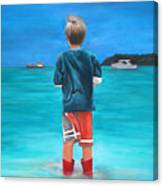 Red Wellies Canvas Print