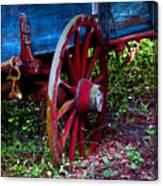 Red Wheel Canvas Print