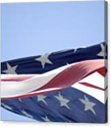 Red White And Blue - American Flag Canvas Print