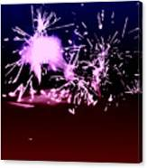 Red White And Blue Fireworks Canvas Print