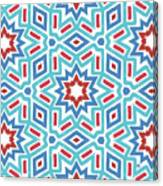 Red White And Blue Fireworks Pattern- Art By Linda Woods Canvas Print