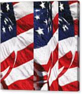Red White Blue - American Stars And Stripes Canvas Print