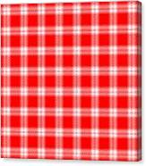 Red White Tartan Canvas Print