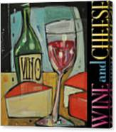 Red Wine And Cheese Poster Canvas Print