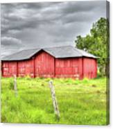 Red Wood Barn - Edna, Tx Canvas Print