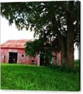 Red Wood Barn Canvas Print