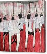 Red Woods Angels Black Like Me Canvas Print