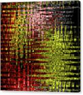 Red Yellow White Black Abstract Canvas Print