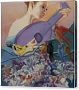 Redbird Sings To Farie Canvas Print