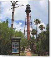 Redbrick Path To The Lighthouse Canvas Print