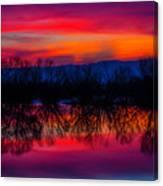 Reddening Sunset Canvas Print