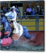 Rodeo Queen At The Grand National Rodeo Canvas Print