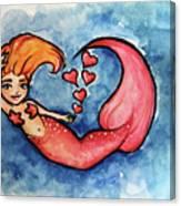Redhead Mermaid Canvas Print