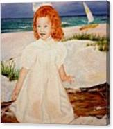 Redhead On Beach Canvas Print